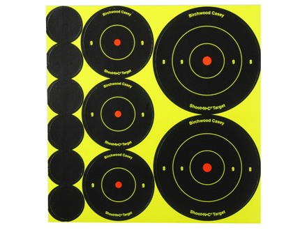 "Birchwood Casey Shoot-N-C Target 72-1"", 36-2"" and 24-3"" Round Assortment Package of 10"