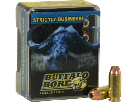 Buffalo Bore Ammunition 40 S&amp;W +P 155 Grain Jacketed Hollow Point Box of 20