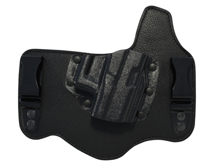 Galco King Tuk Tuckable Inside the Waistband Holster Right Hand Glock 17, 19, 26, 22, 23, 27, 36  Leather and Kydex Black