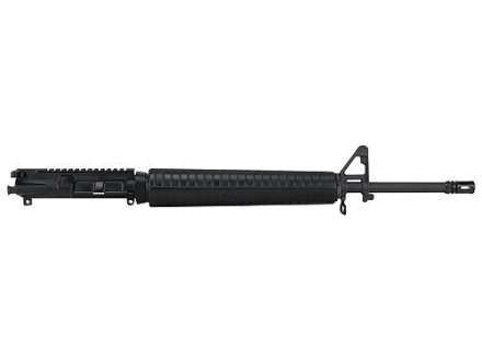 "DPMS AR-15 A3 Flat-Top Upper Assembly 5.56x45mm NATO 1 in 9"" Twist 20"" Barrel Chrome Moly Matte with A2 Handguard, A2 Front Sight, Flash Hider"