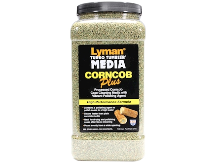 Lyman Turbo Brass Cleaning Media Treated Corn Cob 6 lb &quot;Easy Pour Container&quot;