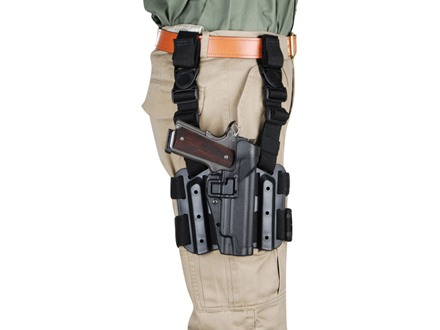BlackHawk Tactical Serpa Thigh Holster Right Hand 1911 Polymer Black