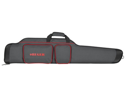 "Ruger 40"" Sporter Scoped Rifle Gun Case Nylon Black with Red Trim"