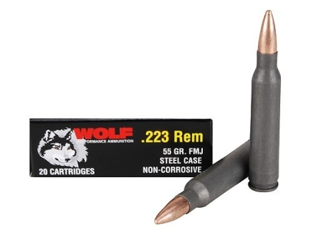 Wolf Ammunition 223 Remington 55 Grain Full Metal Jacket Steel Case Military Sealed Tin of 500 (25 Boxes of 20)