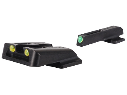 TRUGLO TFO Sight Set S&amp;W M&amp;P, SD9, SD40 Steel Tritium / Fiber Optic Green Front, Yellow Rear