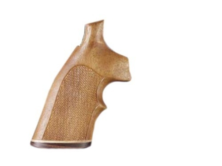 Hogue Fancy Hardwood Grips with Accent Stripe and Top Finger Groove Ruger Speed Six Checkered Goncalo Alves