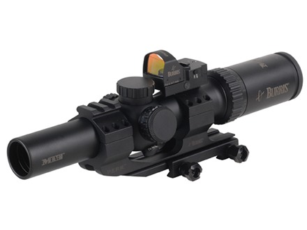 Burris MTAC Rifle Scope 30mm Tube 1-4x 24mm Illuminated Ballistic CQ Reticle with Fastfire III Red Dot and P.E.P.R. Mount Matte