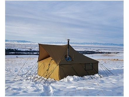 Montana Canvas Spike 2 10&#39; x 10&#39; Tent with Sewn-In Floor, 3 Windows and Screen Door 10 oz Canvas