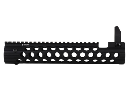 "Troy Industries 11"" Alpha Battle Rail Modular Free Float Handguard with Integral Flip-Up Front Sight AR-15"
