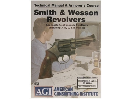 American Gunsmithing Institute (AGI) Technical Manual &amp; Armorer&#39;s Course Video &quot;Smith &amp; Wesson Revolvers&quot; DVD