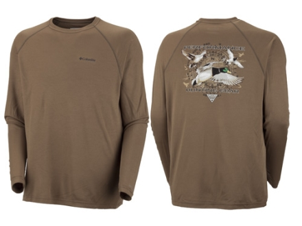 Columbia Men's Terminal Shot Duck T-Shirt Long Sleeve Polyester