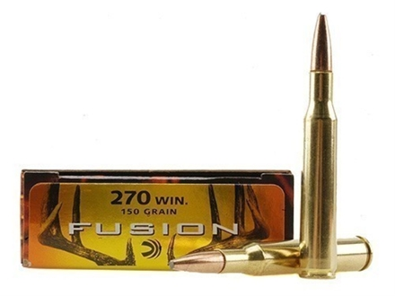Federal Fusion Ammunition 270 Winchester 150 Grain Spitzer Boat Tail Box of 20