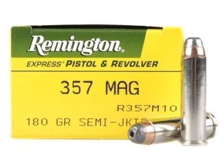 Remington Express Ammunition 357 Magnum 180 Grain Semi-Jacketed Hollow Point Box of 50
