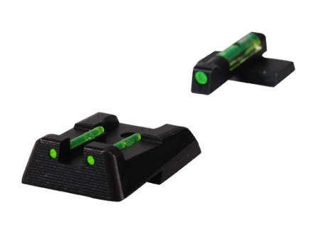 HIVIZ Sight Set HK HK45, HK45C, HK-P30, HK-P30L, Steel Fiber Optic Green