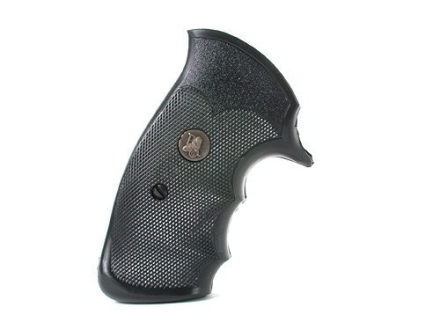 Pachmayr Gripper Professional Grips S&amp;W N-Frame Square Butt Rubber Black