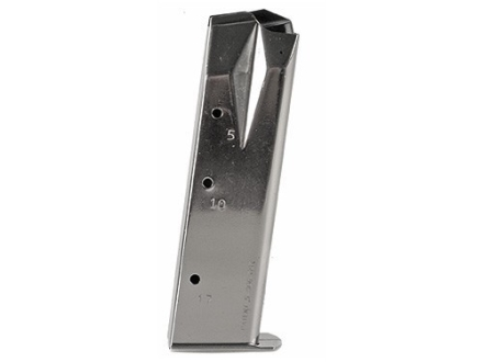 Mec-Gar Magazine Ruger P85, P89, P93, P94, P95, PC9 9mm Luger 17-Round Steel Nickel Plated