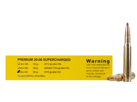 Buffalo Bore Ammunition Supercharged 30-06 Springfield 180 Grain Spitzer Flat Base Box of 20