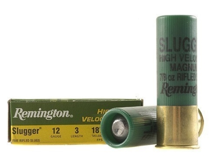 Remington Slugger Ammunition 12 Gauge 3&quot; 7/8 oz High Velocity Rifled Slug Box of 5