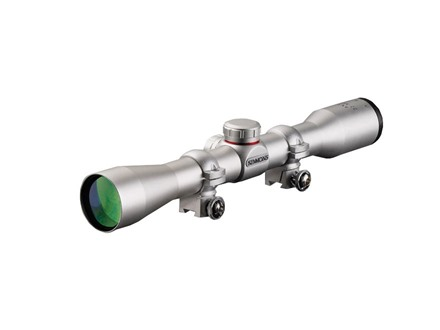 Simmons 22 Mag Rimfire Rifle Scope 4x 32mm Truplex Reticle Silver with Rings