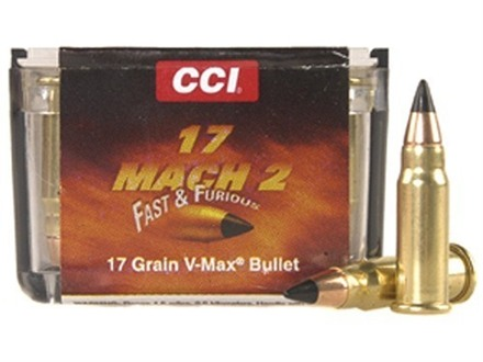 CCI Ammunition 17 Hornady Mach 2 (HM2) 17 Grain Hornady V-Max Box of 500 (10 Boxes of 50)