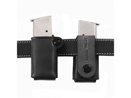 Galco Single Magazine Pouch 40 S&amp;W, 9mm Double Stack Metal Magazines Leather Black