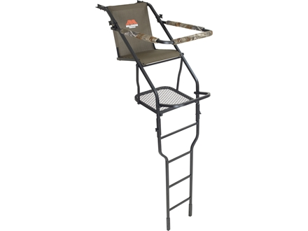 Millennium Treestands L-100 21&#39; Single Ladder Treestand Steel Green