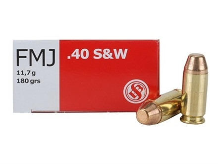 Sellier &amp; Bellot Ammunition 40 S&amp;W 180 Grain Full Metal Jacket Box of 50