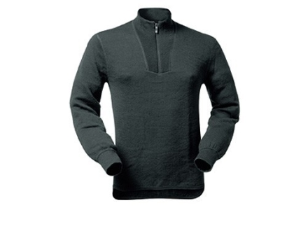 Wool Power Men&#39;s 1/4 Zip Turtleneck Long Underwear Shirt Long Sleeve 400 Gram Insulated Wool Black XL 45-48