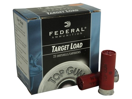 "Federal Top Gun Ammunition 12 Gauge 2-3/4"" 1-1/8 oz #8 Shot"