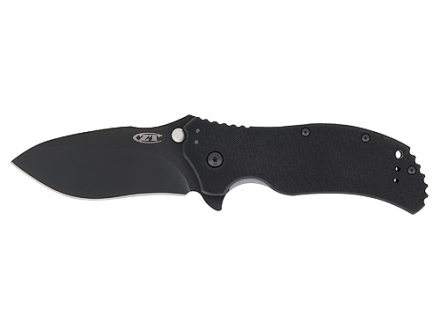 "Zero Tolerance ZT0350 Folding Tactical Knife 3-1/4"" Drop Point S30V Tungsten Coated Stainless Steel Blade G-10 Handle Black"