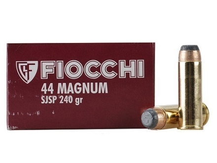 Fiocchi Shooting Dynamics Ammunition 44 Remington Magnum 240 Grain Jacketed Soft Point Box of 50