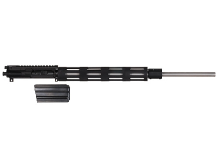 "Olympic Gamestalker AR-15 A3 Flat-Top Upper Assembly 243 Winchester Super Short Magnum (WSSM) 1 in 10"" Twist 22"" Barrel Stainless Steel Black with Vented Free Float Handguard, 4-Round Magazine"