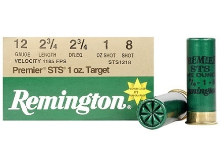 Remington Premier STS Target Ammunition 12 Gauge 2-3/4&quot; 1 oz #8 Shot