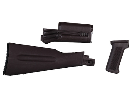 Arsenal, Inc. Complete Buttstock and Handguard Set Warsaw Pact Length AK-47, AK-74 Stamped Receivers Polymer Plum