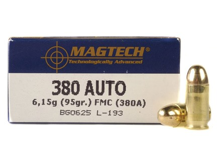 Magtech Shootin' Size Ammunition 380 ACP 95 Grain Full Metal Jacket Box of 250