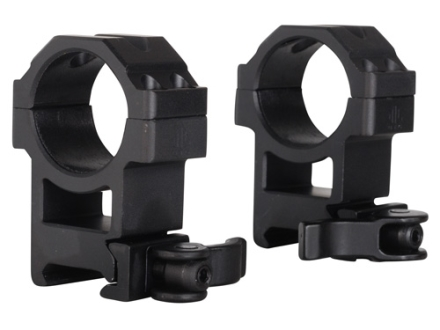Leapers UTG 30mm Max Strength Tactical 4-Hole Quick Detachable Picatinny-Style Rings Matte High