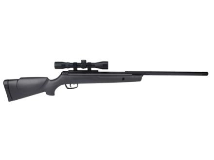 Gamo Big Cat .22 Air Rifle 22 Caliber Black Synthetic Stock Blued Barrel with Gamo Airgun Scope 4x32mm Matte