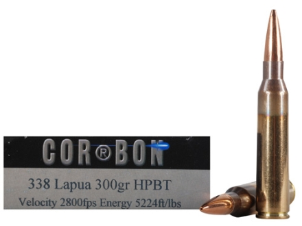 Cor-Bon Performance Match Ammunition 338 Lapua Magnum 300 Grain Hollow Point Boat Tail Box of 20