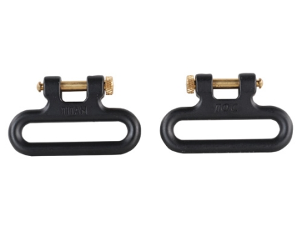 The Outdoor Connection Titan Q-R Detachable Sling Swivels 1-1/4&quot; Stainless Steel Black (1 Pair)