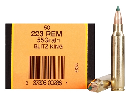 HSM Ammunition 223 Remington 55 Grain Sierra BlitzKing Polymer Tip Boat Tail Box of 50