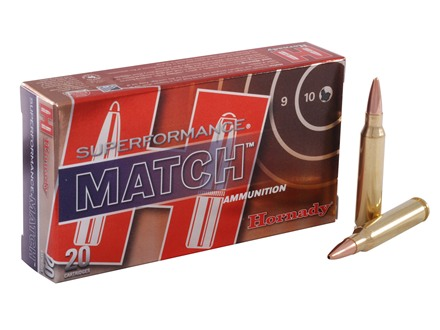 Hornady SUPERFORMANCE Ammunition 223 Remington 75 Grain Hollow Point Boat Tail Match Box of 20