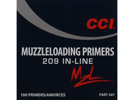 CCI Primers #209 Muzzleloading Box of 100