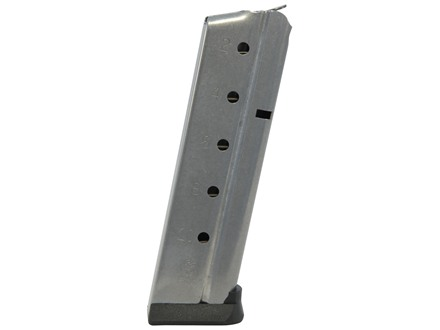 Metalform Magazine 1911 Government, Commander 9mm Luger 10-Round Stainless Steel Flat Follower Ultramag Base