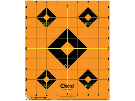 "Caldwell Orange Peel Target 8"" Self-Adhesive Sight-In Package of 5"