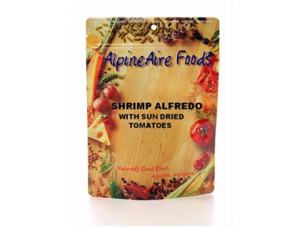 AlpineAire Shrimp Alfredo with Sun Dried Tomato Freeze Dried Meal 6 oz