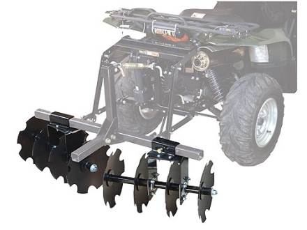 Kolpin DirtWorks ATV 54&quot; Disc Plow with 2 Boxes Steel Black