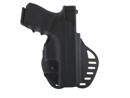 Hogue PowerSpeed Concealed Carry Holster Outside the Waistband (OWB) Right Hand Glock 19, 23, 32, 39  Polymer Black