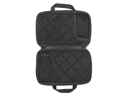 Allen 7&quot; x 11-1/2&quot; Double Attache Pistol Gun Case Foam Shell Black