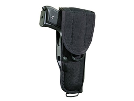 "Bianchi UM92-2 Universal Military Holster with Trigger Shield Large Frame Semi-Automatic 4"" Barrel Nylon Black"