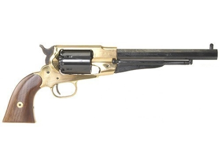 "Pietta 1858 Remington Brass Frame Black Powder Revolver 44 Caliber 8"" Blue Barrel"
